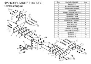 Фаркопы лидер плюс для FORD TRANSIT (FA) (фургон ) 2000 — 2014