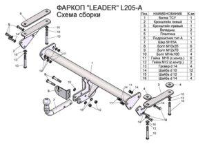 Фаркоп лидер плюс для LAND ROVER FREELANDER 2 (LF) (2006-2015)