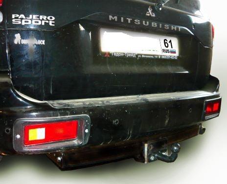 Фаркопы лидер плюс для MITSUBISHI PAJERO SPORT (K90) 1998-2008 (C НЕРЖ. ПЛАСТИНОЙ) Для автомобилей выпущенных c 1998 по 2008