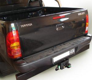Фаркоп лидер плюс для TOYOTA HILUX (4WD) (N2) с задним силовым бампером 2008-2015