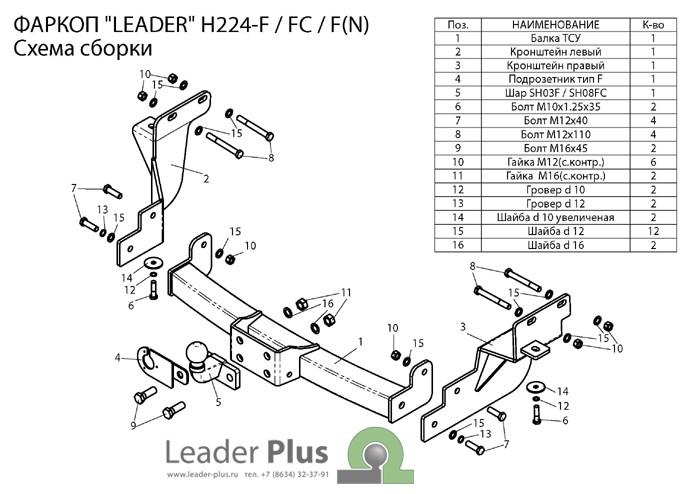 Лидер Плюс H224-F(N)