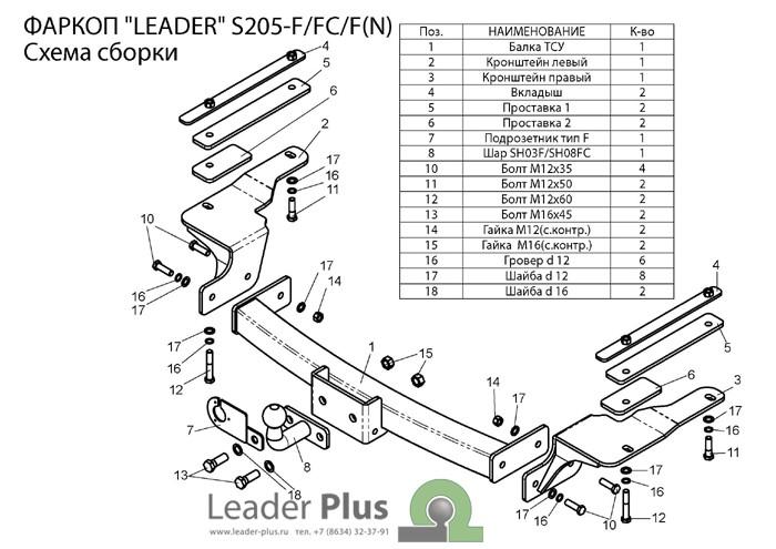 Лидер Плюс S205-F(N)